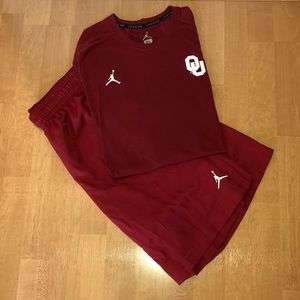 NWOT OU x Air Jordan Dri-Fit Short & Tee Set